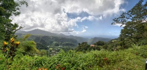Volcanic hills of Dominica